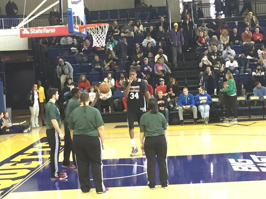 Bucks practice in Al McGuire Center