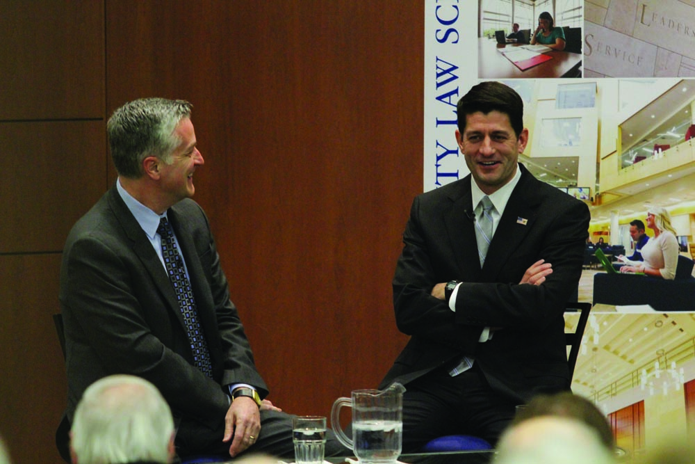 Rep. Paul Ryan talks with