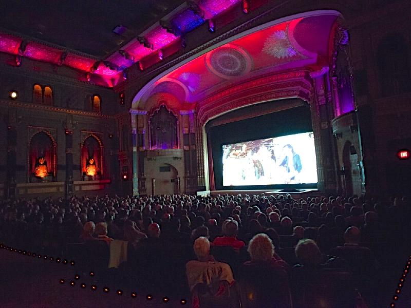 Moviegoers look on in the grand auditorium of the Oriental Theatre at the 2012 MKE Film Fest.
