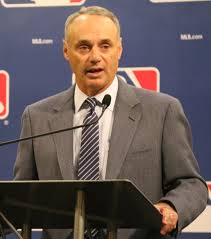 New MLB commissioner Rob Manfred could  see an interesting season as the league faces new policies. Photo via wikimedia.org