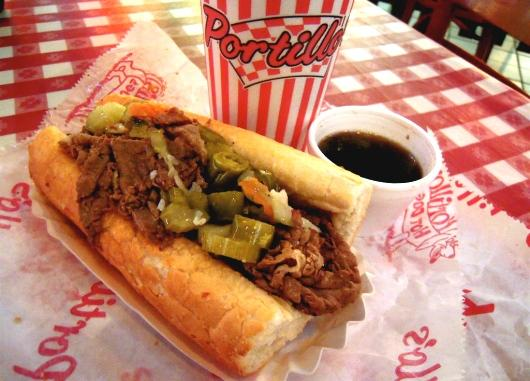 Portillos is a staple in the Chicagoland area known for Italian beef, chocolate cake shakes and burgers.