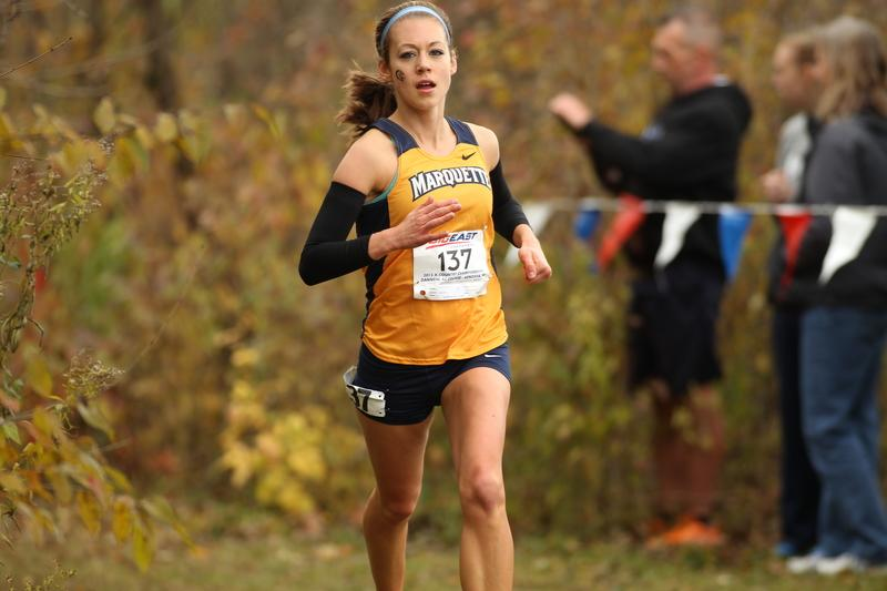 Junior Brittney Feivor finished third in the 4k this weekend. (Photo courtesy of Marquette Images)