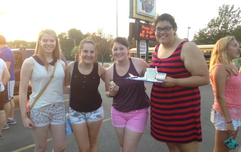 Marquette students at this year's Custard Crawl.