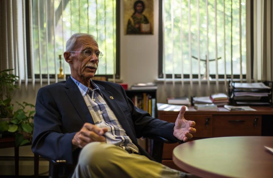 The Rev. John Schlegel. Photo by Nolan Bollier /nolan.bollier@marquette.edu