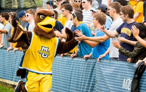The Golden Eagle has been a key part of Marquette's athletic image for years.