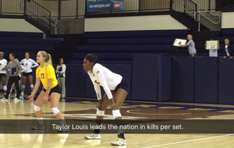 Reporter uses Snapchat to document volleyball match