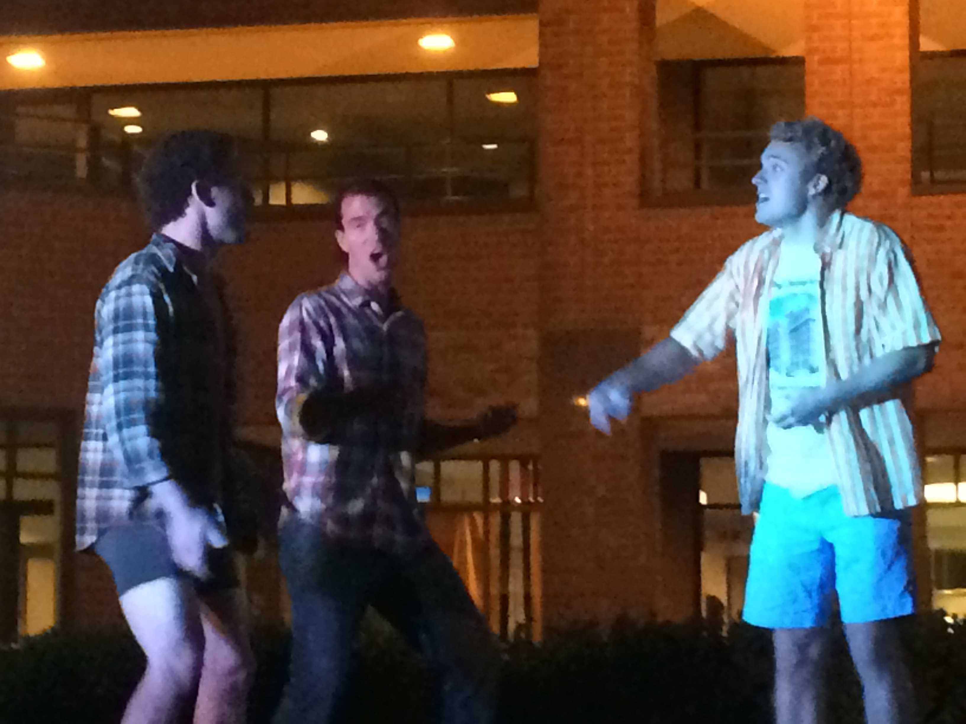 Studio 013 Refugees owned the stage at Westowne Square for hours of improv comedy