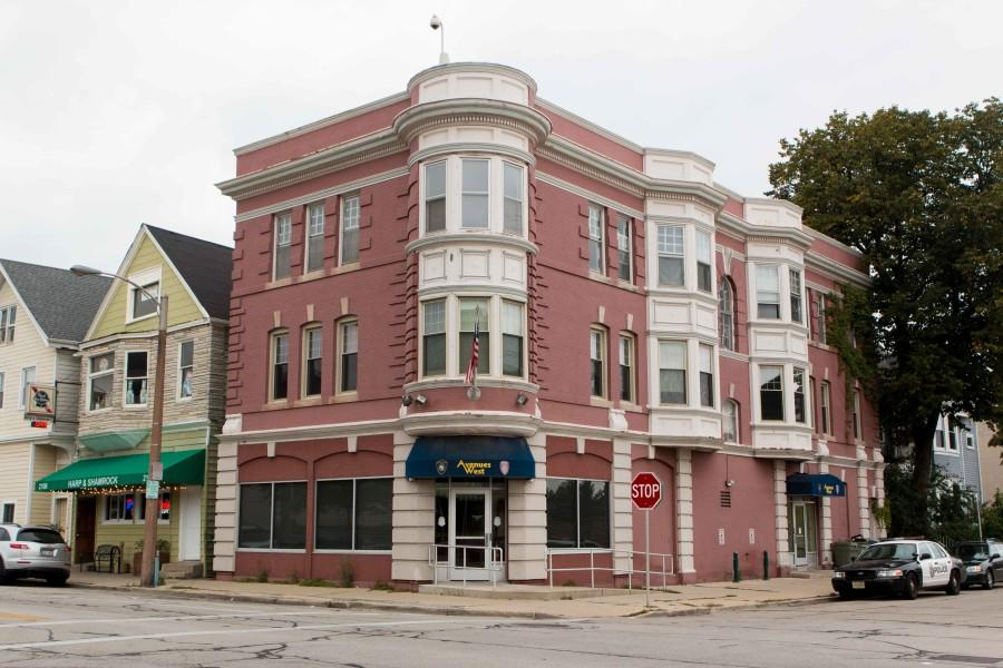 Harp and Shamrock and the Avenues West building on the corner of 21st and Wells. Harp and Shamrock owner Aldo Tase said the presence of MUPD has been positive for his business.