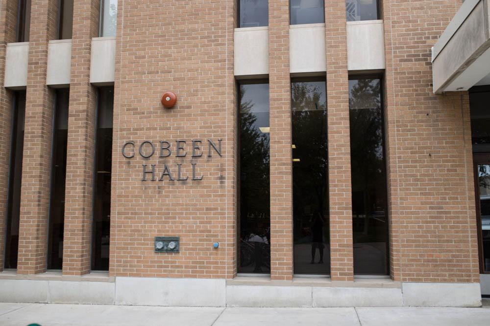 Cobeen Hall is last same gender dorm on campus, housing freshmen and sophomore girls. Wire Stock Photo.