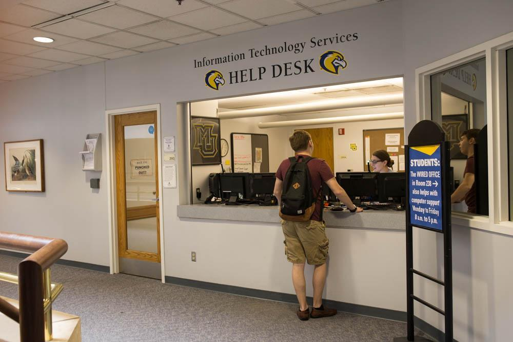 The IT Services Desk is located in Cudahy Hall. Marquette Wire stock photo.