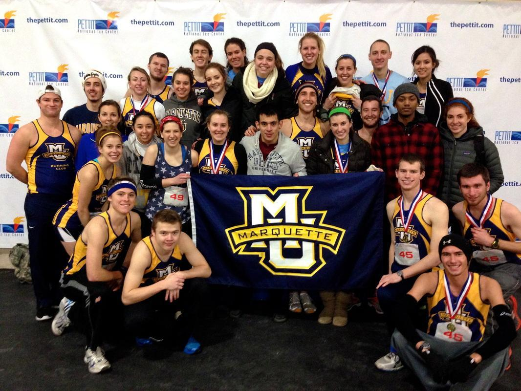 Marquette Running Club in 2014. Photo by Dan Reiner/daniel.reiner@marquette.edu