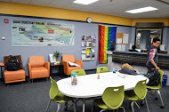 A look inside the new LGBT resource center, which will have a new coordinator soon.  Photo by Matthew Serafin/ matthew.serafin@marquette.edu
