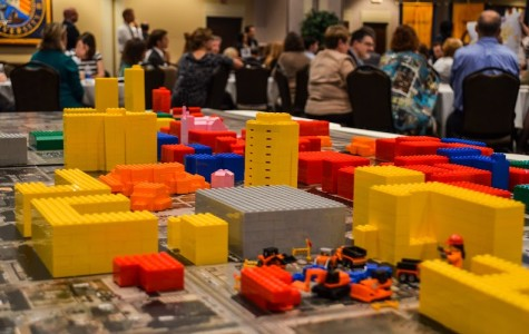 A display of campus made out of LEGOs was at the workshop. Photo by Matthew Serafin /matthew.serafin@marquette.edu