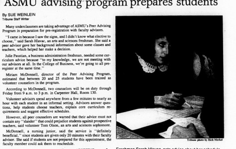 Throwback: student government provided peer advising in the '80s