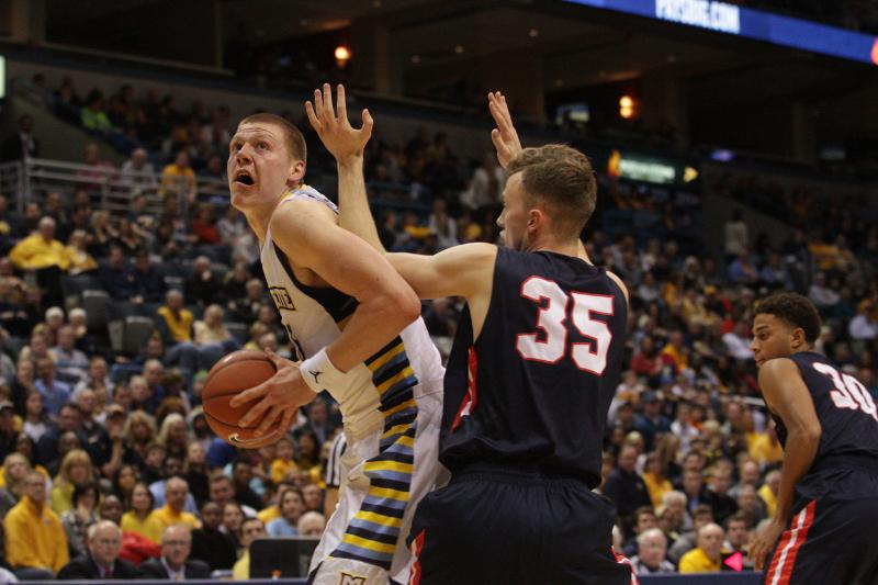 Ellenson scored 21 points in his official Marquette debut  (Photo by Doug Peters/douglas.peters@mu.edu)