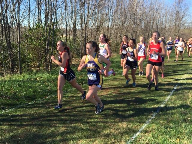 Junior Shelby Koontz was Marquette's top female finisher in the team's first trip to the NIRCA XC National Championship. Photo courtesy of Xander Jacobson