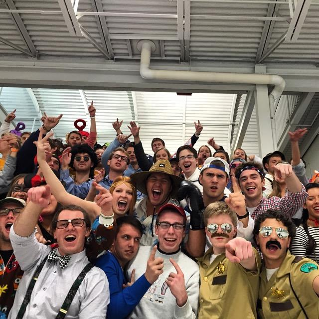 The+student+section+was+packed+to+see+Marquette+capture+a+7-4+victory+over+UWM+for+the+annual+Halloween+game+Friday+at+the+Ponds+of+Brookfield.+Photo+courtesy+of+Peter+Fiorentino.