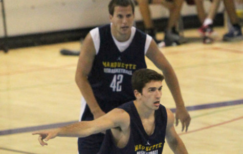 The three walk-ons give the Golden Eagles flexibility in practice (Photo courtesy of Maggie Bean/Marquette Images).