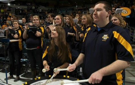 Pep band gets excited for basketball