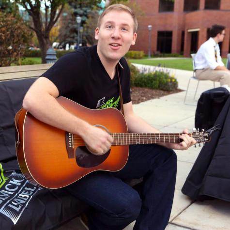 """Ben Dombrowski perfroming at the Mountain Dew """"What You Dew"""" event. Photo by Emily Dever"""