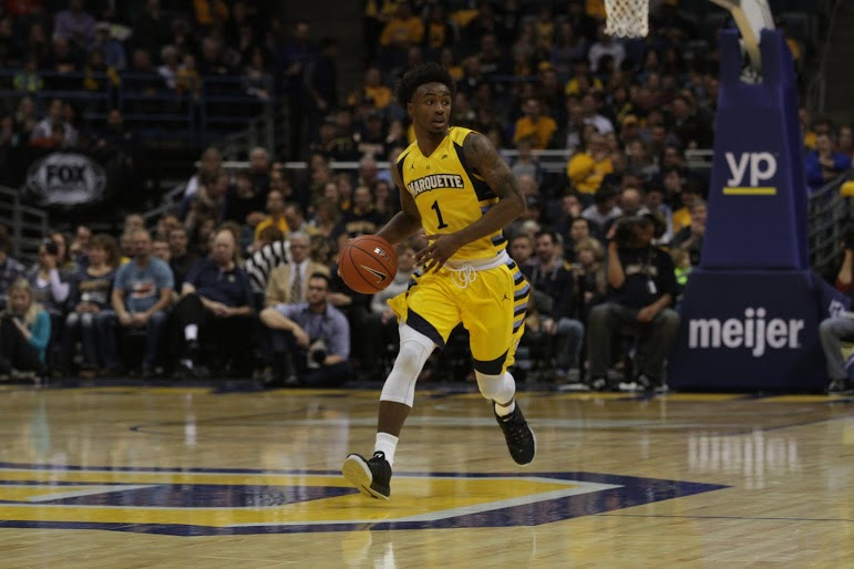 Duane+Wilson+had+18+points+and+six+assists+in+Monday%27s+91-74+win+over+Chicago+State.+Photo+by+Doug+Peters%2Fdouglas.peters%40marquette.edu