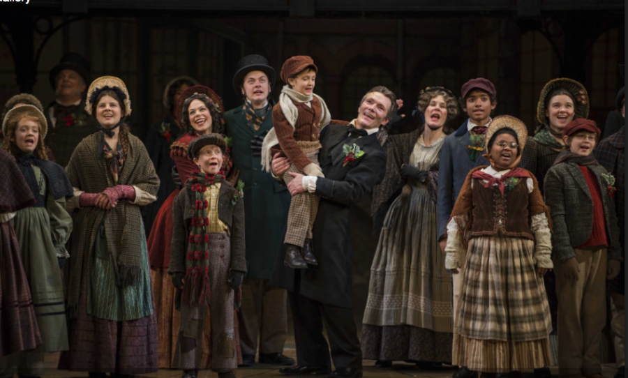 Scene from the 2014 production of 'A Christmas Carol' at the Rep. Photo via milwaukeerep.com