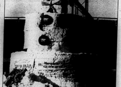 Throwback: College of Engineering students, faculty built 52-foot snowman in 1988, broke world record