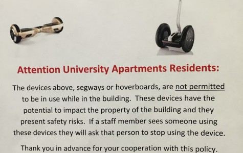 Hoverboards prohibited from university-owned residence buildings