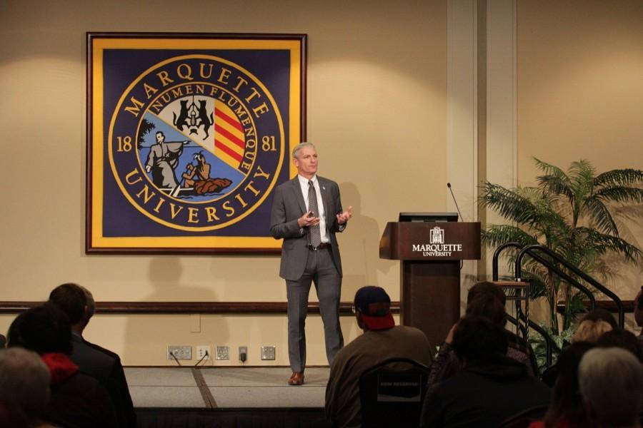 University President Michael Lovell. Photo by Nolan Bollier /nolan.bollier@mu.edu