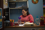 Sarah Beattie at work in the MUSG offices.  Photo by Nolan Bollier/nolan.bollier@marquette.edu