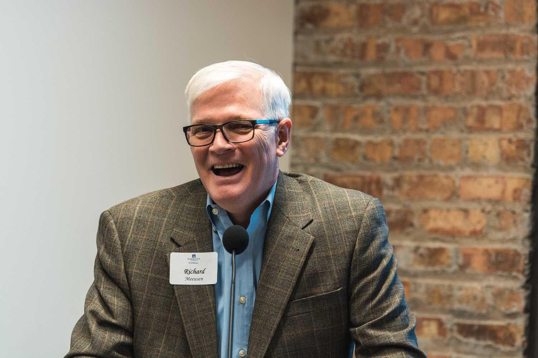Rich+Meeusen%2C+co-chair+of+The+Water+Council%2C+addresses+the+crowd.+Photo+by+Mike+Carpenter+%2Fmichael.carpenter%40mu.edu