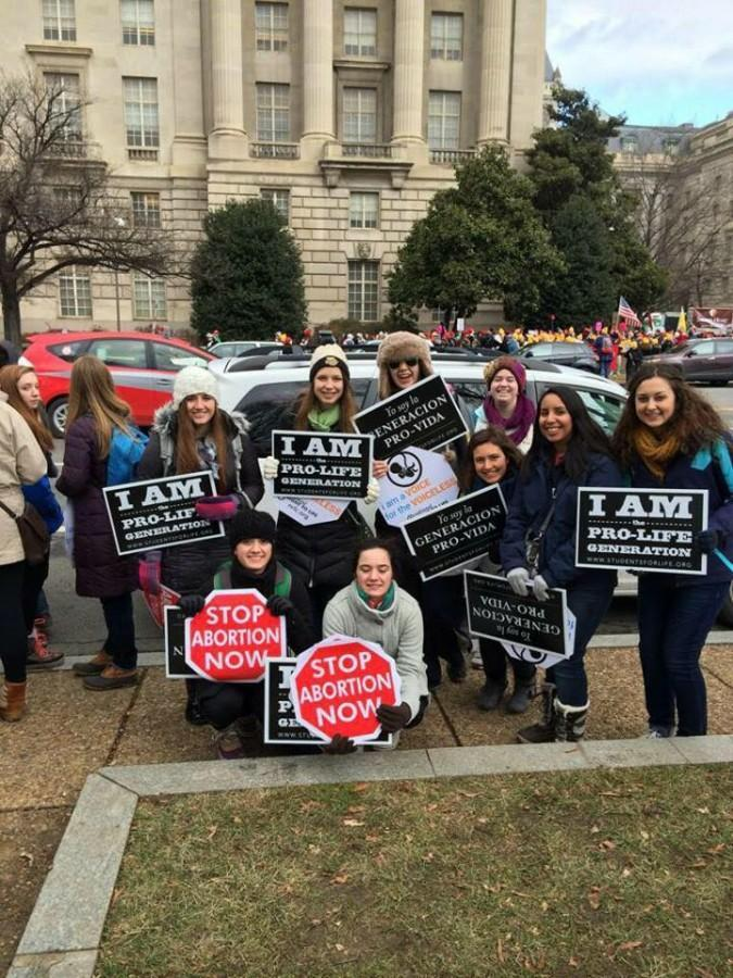 Marquette participants from a past March for Life pilgrimage. Photo courtesy of Sarah Huber