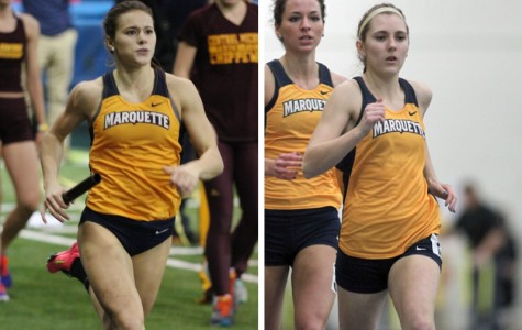 Cassy Goodrich (left) and Nicole Ethier (right) broke team records in consecutive weeks. Photos courtesy of Bert Rogers (left) and Maggie Bean (right)