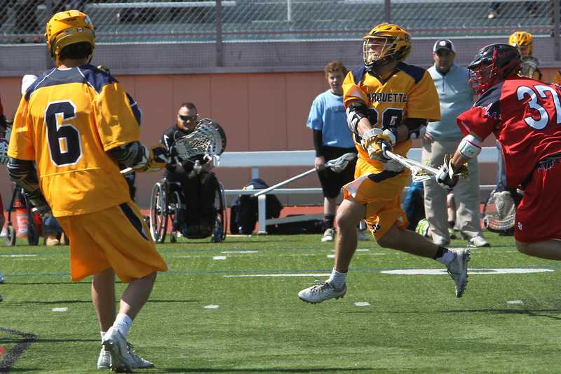 McNamara led the team with a career-high four goals (Photo courtesy of Alicia Mojica/Marquette Athletics)