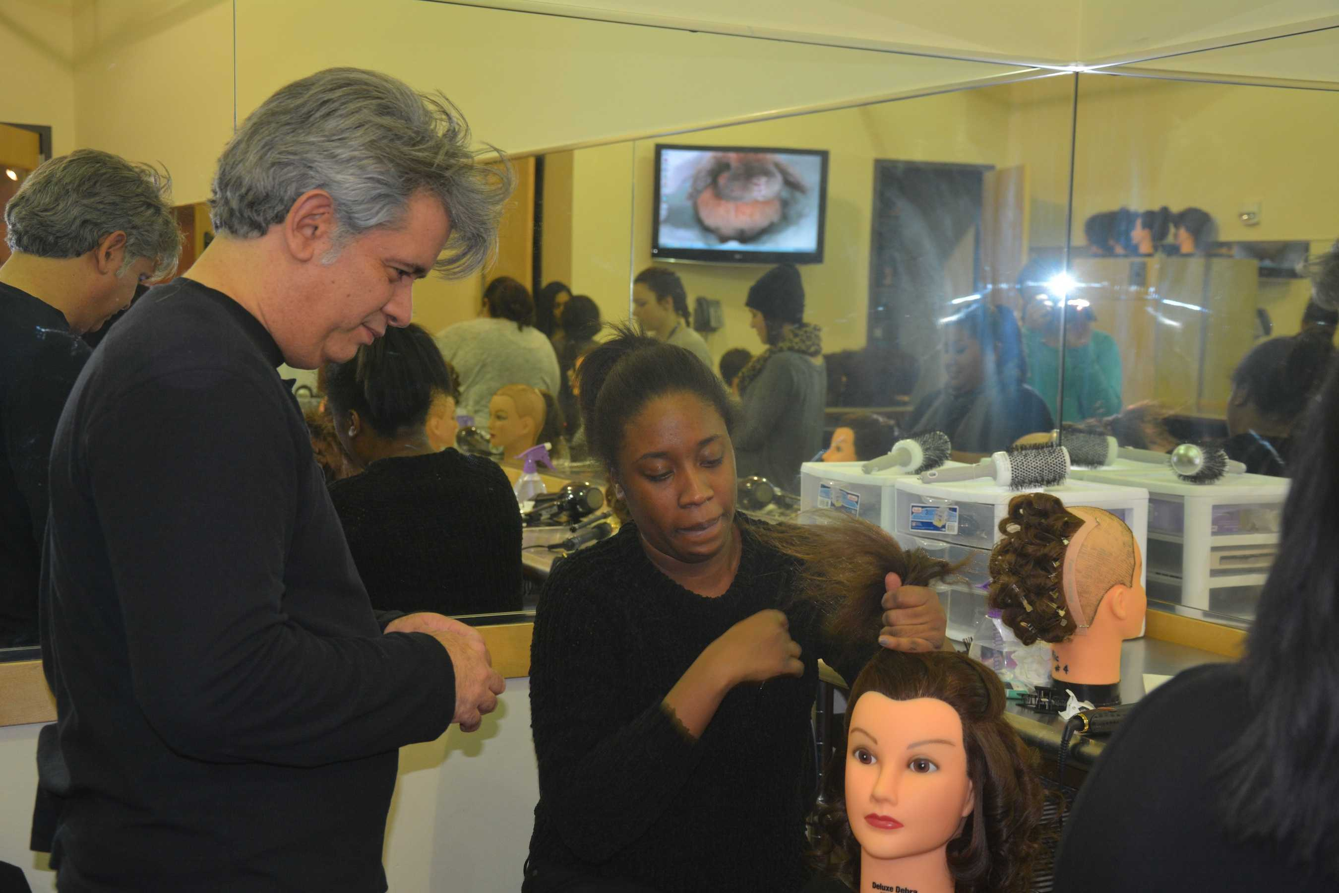 Students learn services including manicures, makeup applications, facials, haircuts, styling and more.