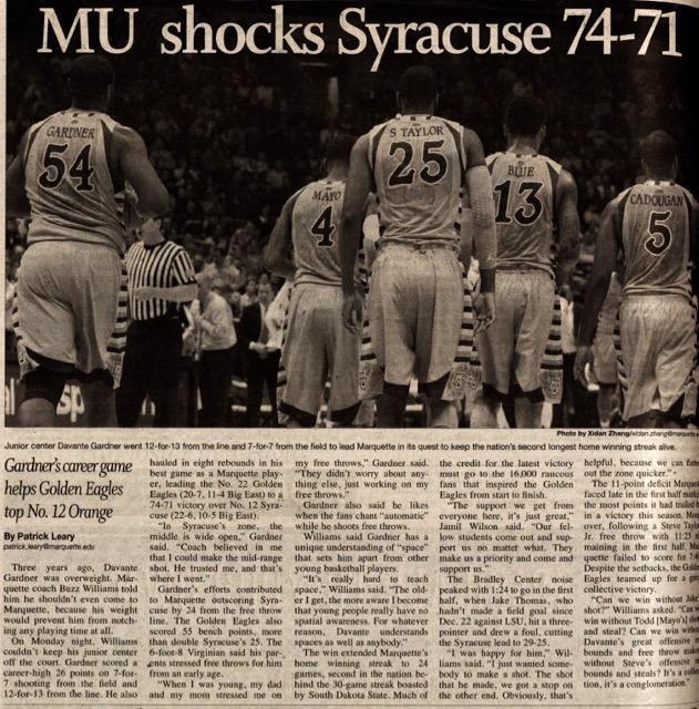 MU shocks Syracuse