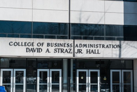 Straz Hall will begin renovations once the new business building is complete  Marquette Wire stock photo
