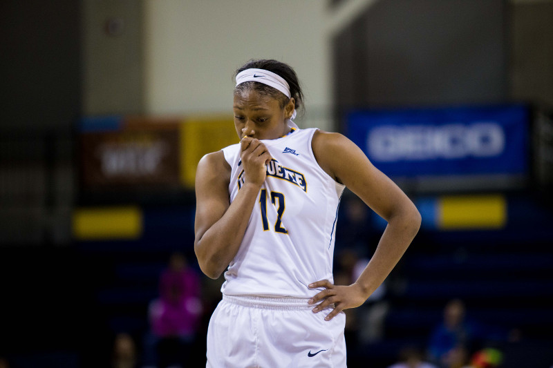 Davenport led Marquette in scoring in both games this weekend (Photo by Ben Erickson/benjamin.a.erickson@mu.edu)