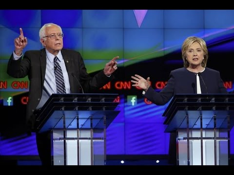 Bernie Sanders, left, Hillary Clinton, right, are both front runners for the Democratic nomination for president.  Photo via World News Video