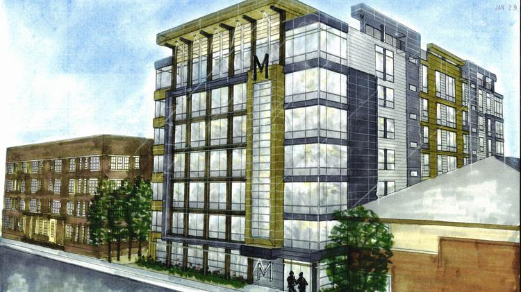 Good Rendering Of The M Apartments. Photo Via The Milwaukee Business Journal