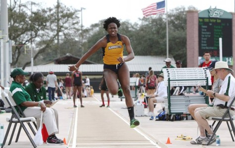 Terica Harris set a personal best in the long jump of 5.78 meters. Photo via facebook.com/mutfxc