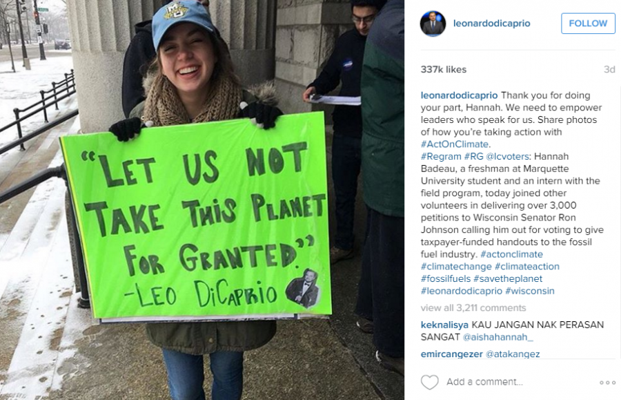Leonardo Dicaprio Features Freshman On His Instagram Marquette Wire