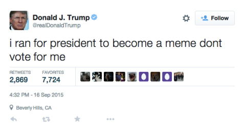 HUGHES: Donald Trump: King of the meme