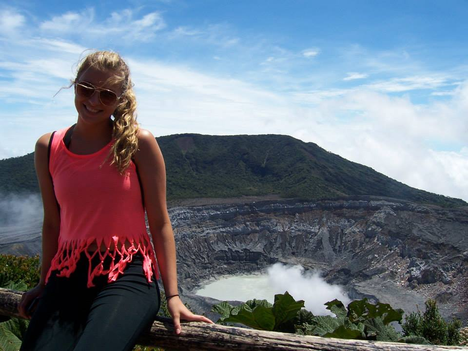 Freshman Katrina Reeder visited Volcano Arenal in Coast Rica with her high school Spanish class.