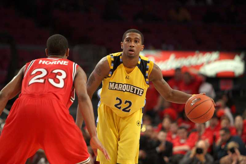 Jerel McNeal is one of three players committed to the Basketball Tournament team. Photo courtesy of Marquette Athletics