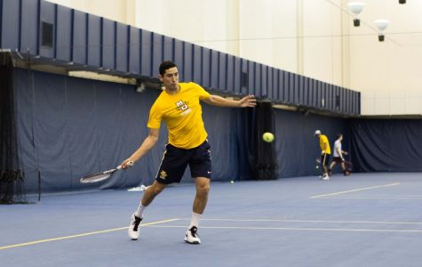 Men's tennis closes home season undefeated