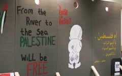 Mock apartheid wall re-displayed after being removed without warning