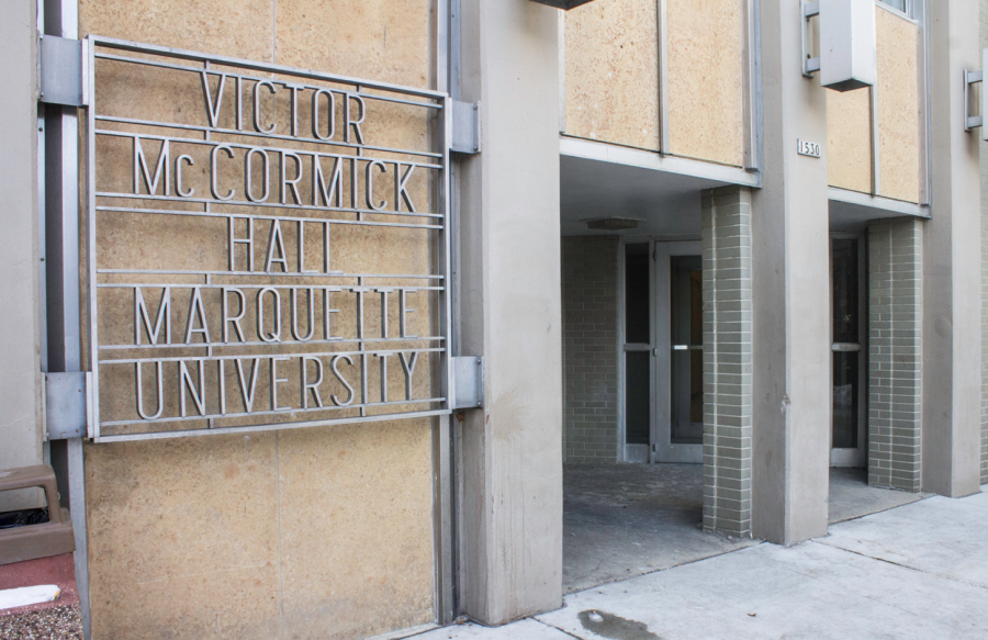 Entrance to McCormick Hall. Photo by Madeline Pieschel / madeline.pieschel@marquette.edu