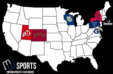 BIG EAST Utah lacrosse map