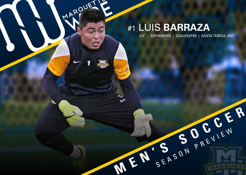 Barraza returns to Marquette after starting all but one game as a freshman.